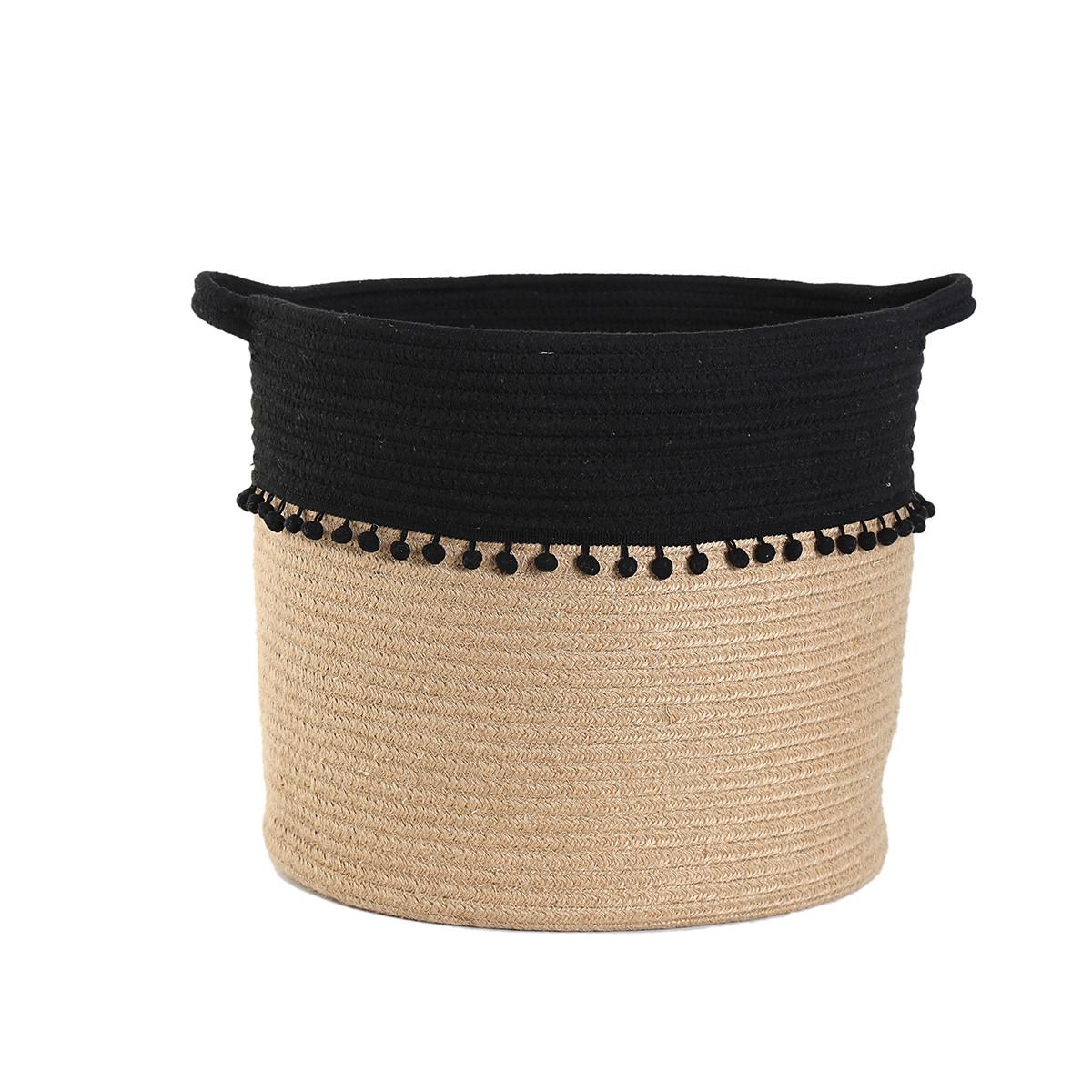 Καλάθι Αποθήκευσης (37x35) Nef-Nef Soho Black home   διακόσμηση   κουτιά αποθήκευσης   καλάθια