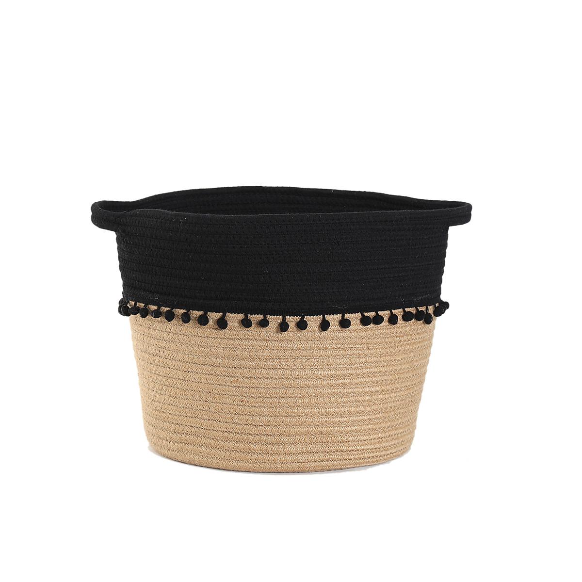 Καλάθι Αποθήκευσης (30x28) Nef-Nef Soho Black home   διακόσμηση   κουτιά αποθήκευσης   καλάθια