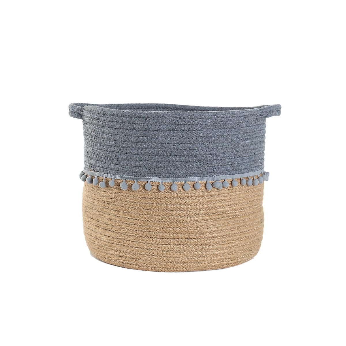 Καλάθι Αποθήκευσης (30x28) Nef-Nef Soho Grey home   διακόσμηση   κουτιά αποθήκευσης   καλάθια