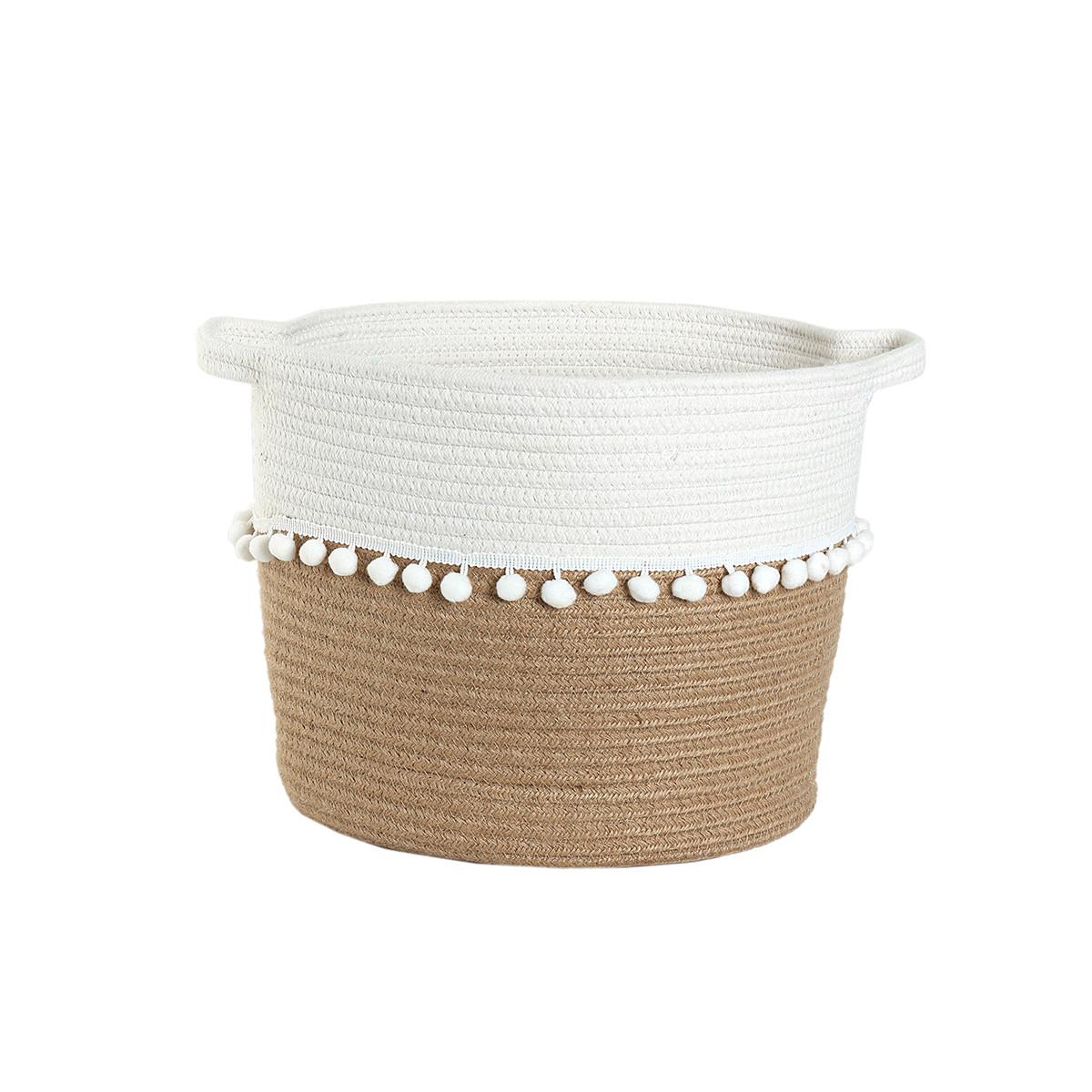 Καλάθι Αποθήκευσης (30x28) Nef-Nef Soho Cream home   διακόσμηση   κουτιά αποθήκευσης   καλάθια