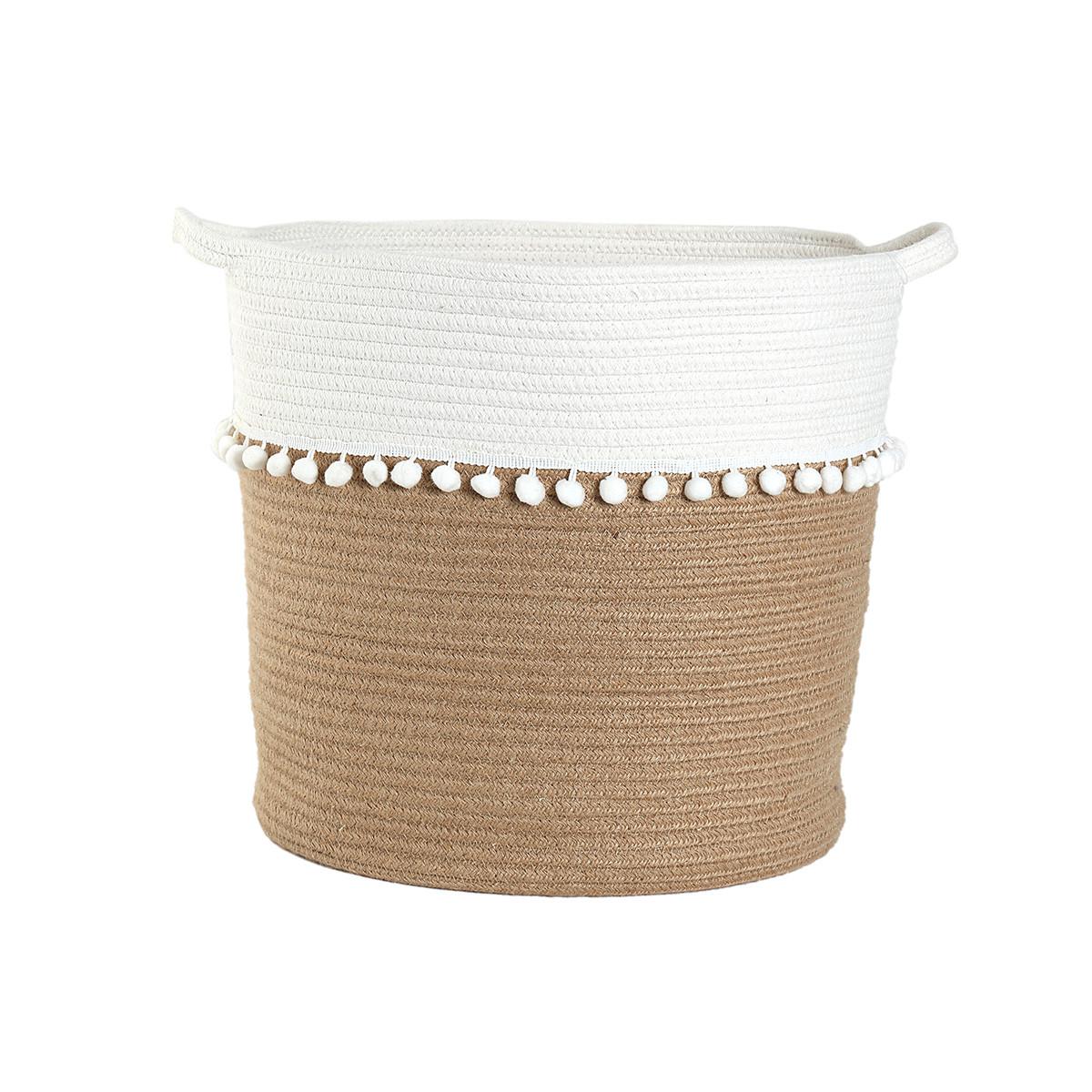Καλάθι Αποθήκευσης (37x35) Nef-Nef Soho Cream home   διακόσμηση   κουτιά αποθήκευσης   καλάθια