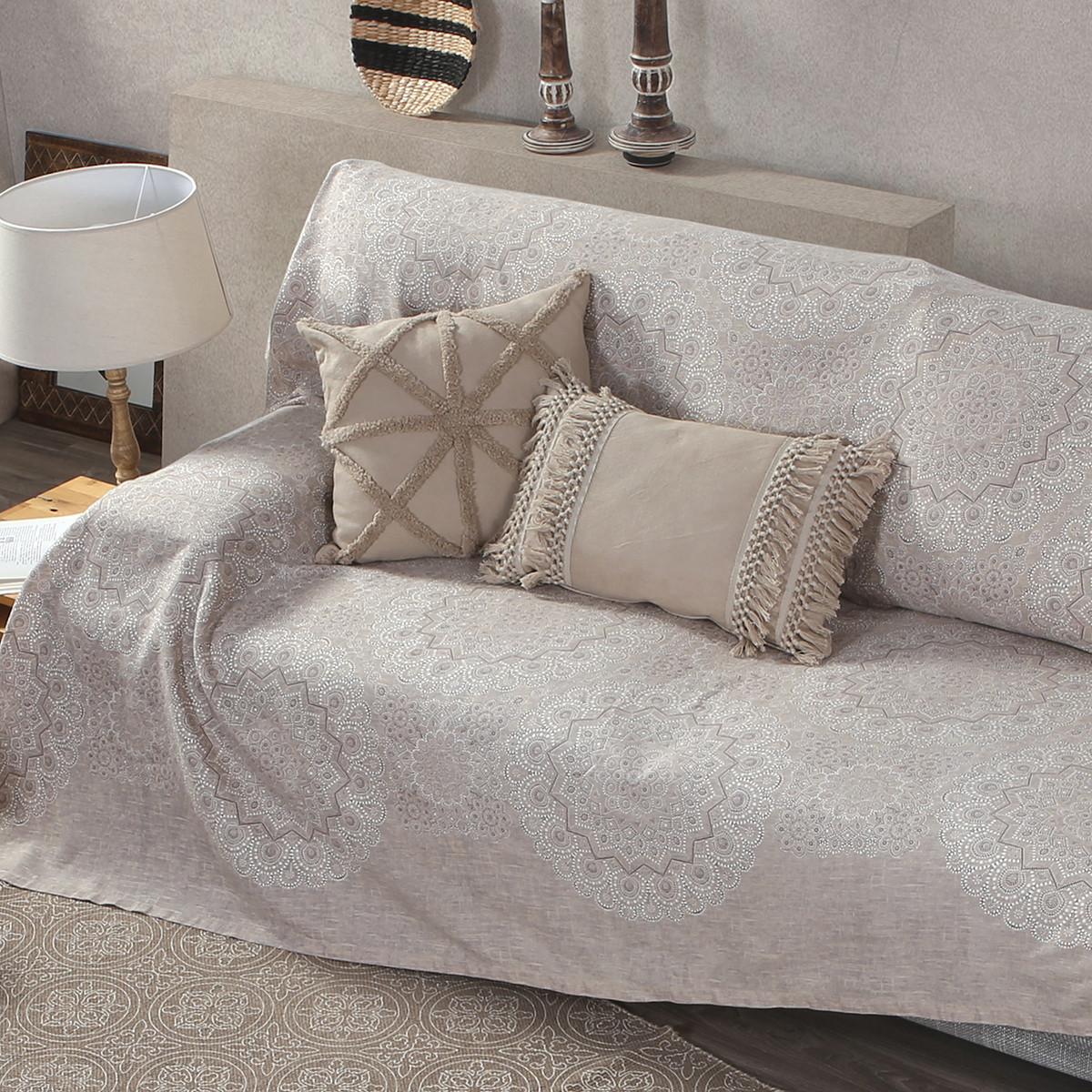 Ριχτάρι/Κουβερτόριο (250×250) Nef-Nef Bed&Sofa Dantelle Beige