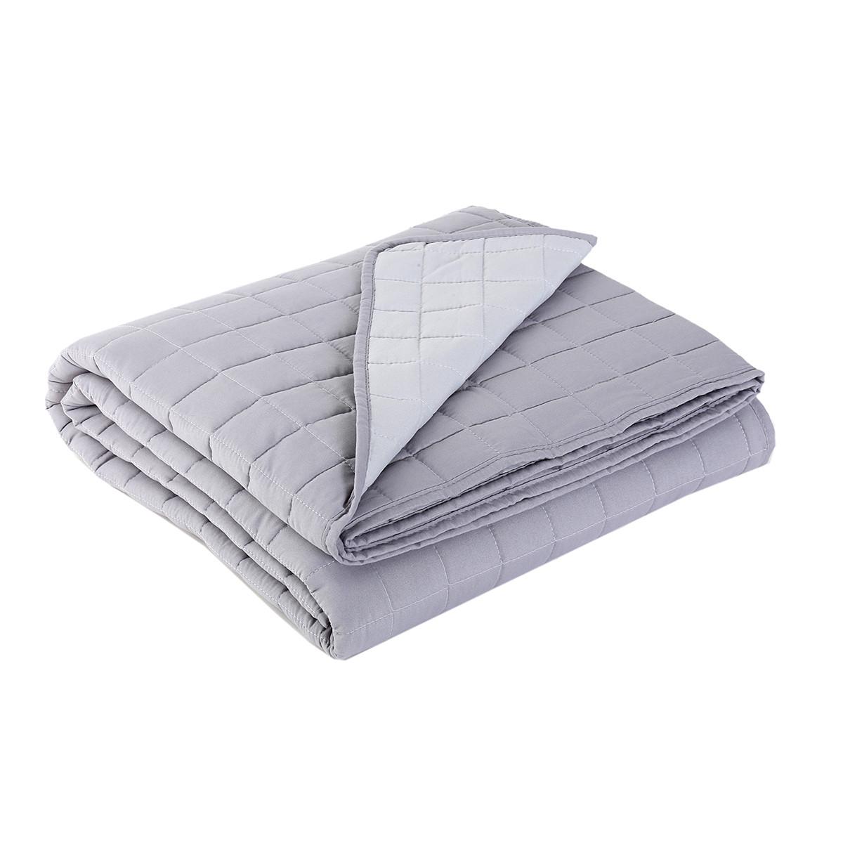 Κουβερλί Μονό 2 Όψεων Nef-Nef Bicolor D.Grey/L.Grey