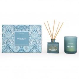 Αρωματικό Χώρου Με Στικς + Αρωματικό Κερί Nef-Nef Ocean Blue