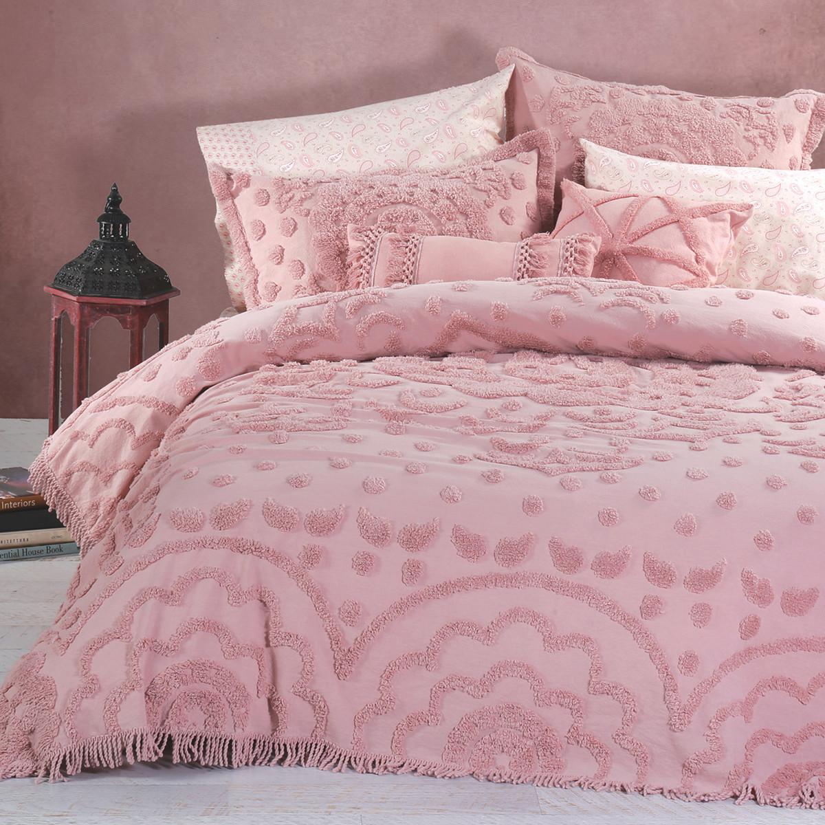 Κουβερτόριο Υπέρδιπλο Nef-Nef Sienna Pink home   κρεβατοκάμαρα   κουβέρτες   κουβέρτες καλοκαιρινές υπέρδιπλες