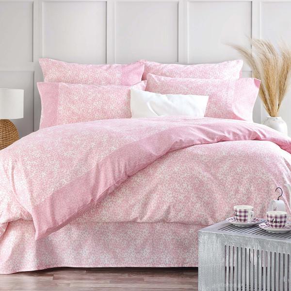 Κουβερλί Υπέρδιπλο (Σετ) Rythmos Next Caressa Pink