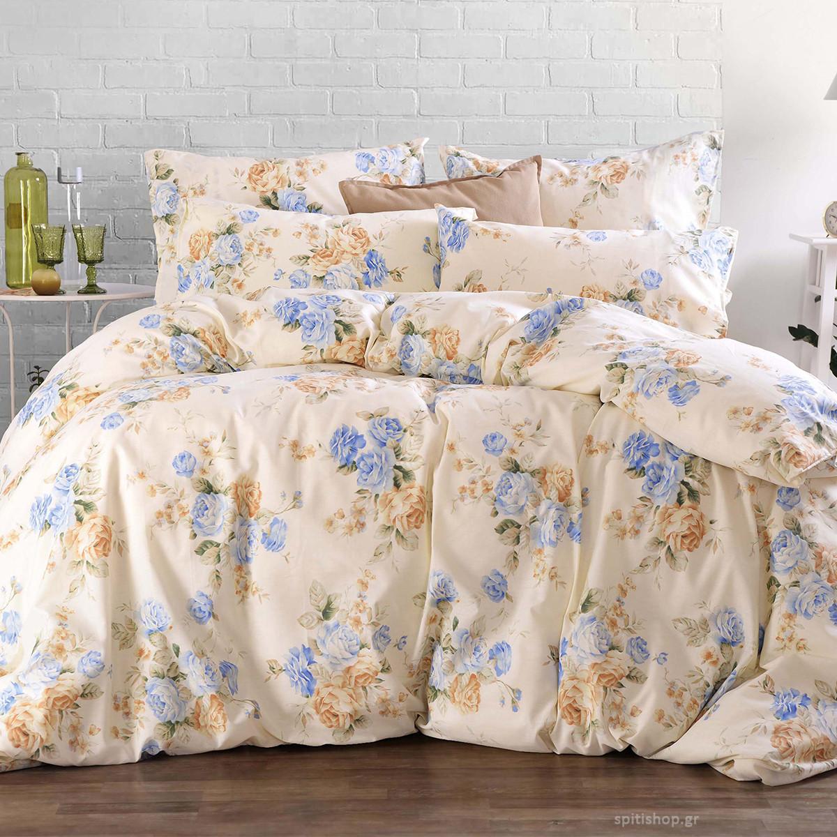 Κουβερλί Μονό (Σετ) Rythmos Next Rosalin Blue home   κρεβατοκάμαρα   κουβερλί   κουβερλί μονά