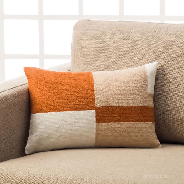Διακοσμητική Μαξιλαροθήκη (30x45) Gofis Home Eden Orange 808/03