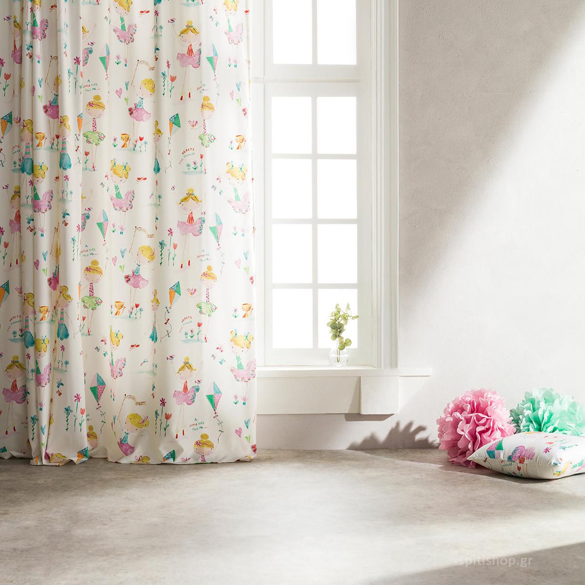 Παιδική Κουρτίνα (160x260) Με Τρέσα Gofis Home Fairytale 349