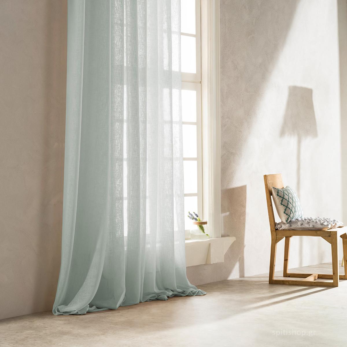 Κουρτίνα (140×260) Με Τρέσα Gofis Home Combe Aqua 502/11