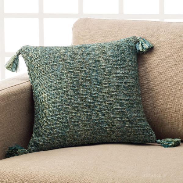 Διακοσμητική Μαξιλαροθήκη (43x43) Gofis Home Inteligo Turquoise 799/11