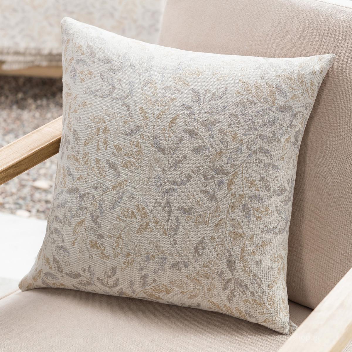 Διακοσμητική Μαξιλαροθήκη (50×50) Gofis Home Delicate Grey 904/15