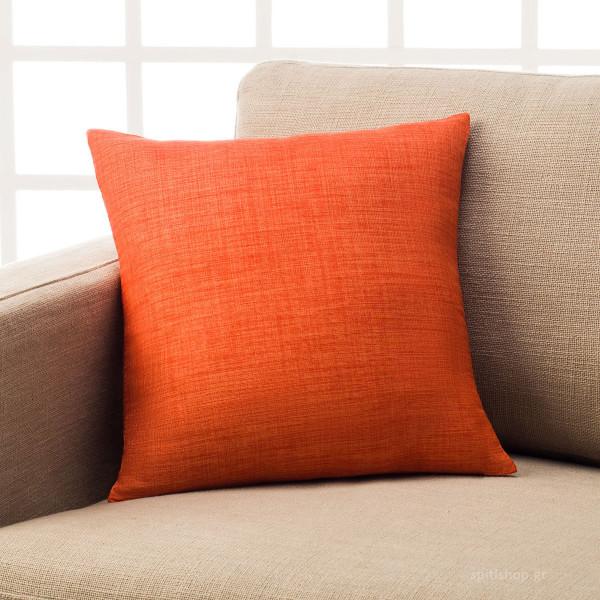 Διακοσμητική Μαξιλαροθήκη (43x43) Gofis Home Chrome Orange 930B/03
