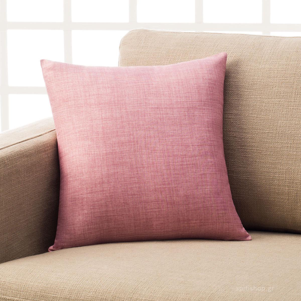 Διακοσμητική Μαξιλαροθήκη (43×43) Gofis Home Chrome Pink 930B/17