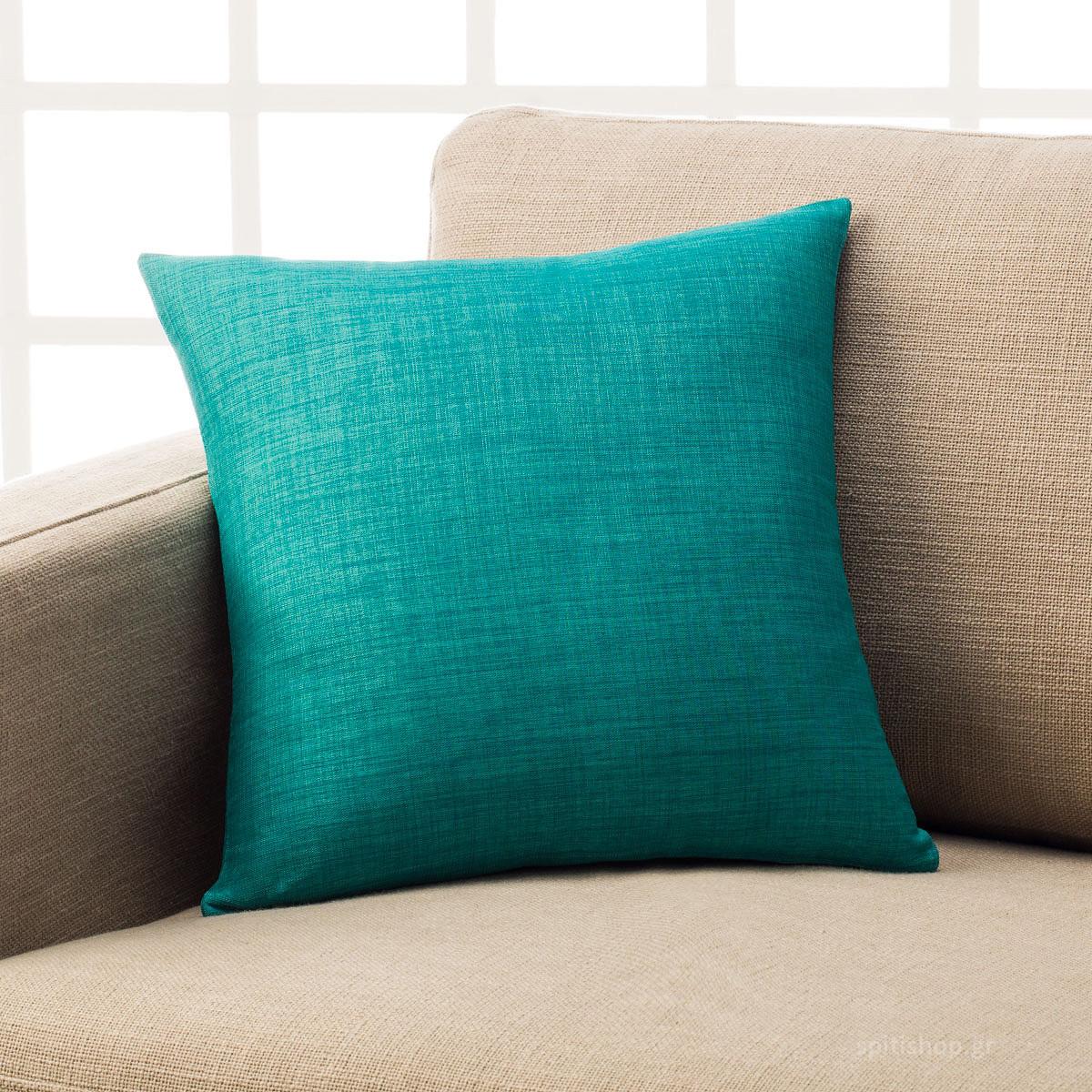 Διακοσμητική Μαξιλαροθήκη (43×43) Gofis Home Chrome Turquoise 930B/18