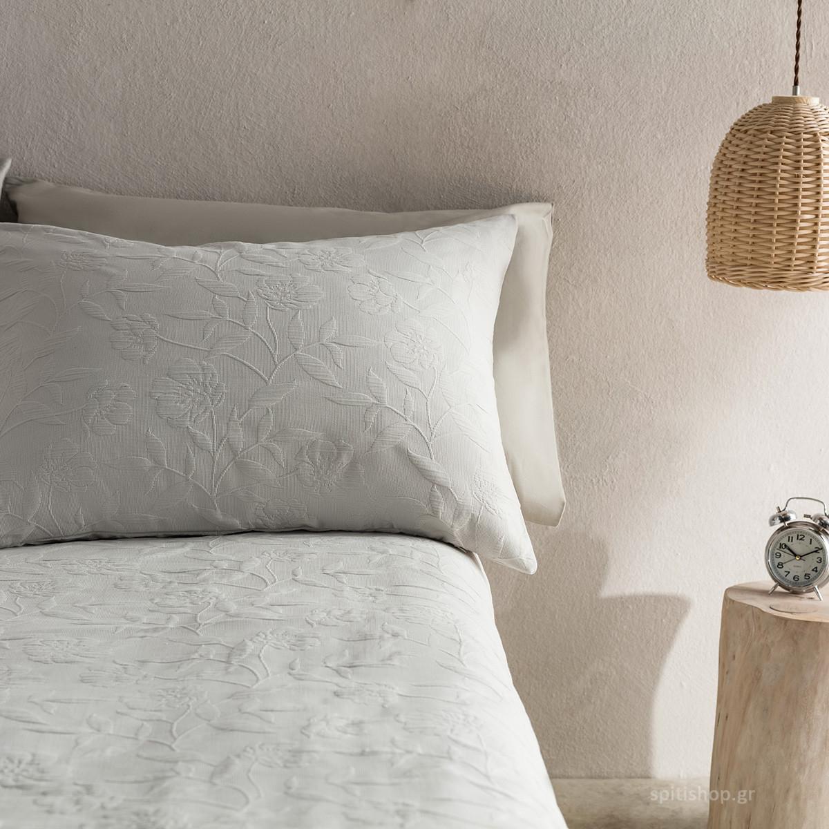 Μαξιλαροθήκη Ύπνου Gofis Home Laurele Silver 978/15