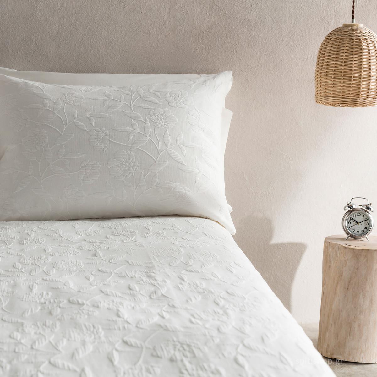 Μαξιλαροθήκη Ύπνου Gofis Home Laurele Off White 978/16