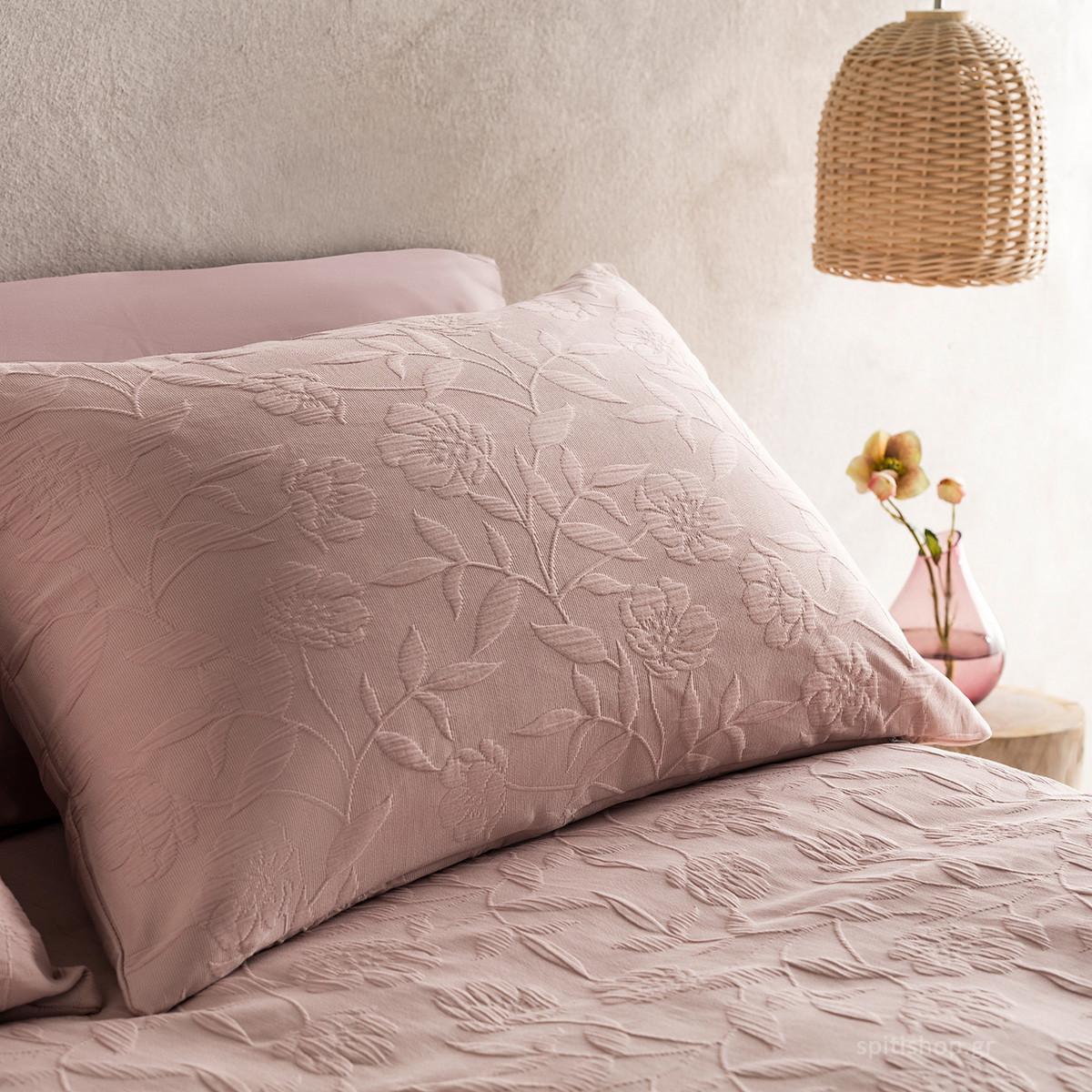 Μαξιλαροθήκη Ύπνου Gofis Home Laurele Pink 978/17