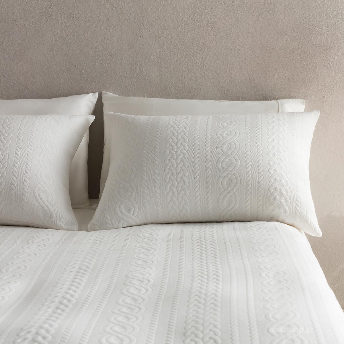 Μαξιλαροθήκη Ύπνου Gofis Home Meche Off White 989/16