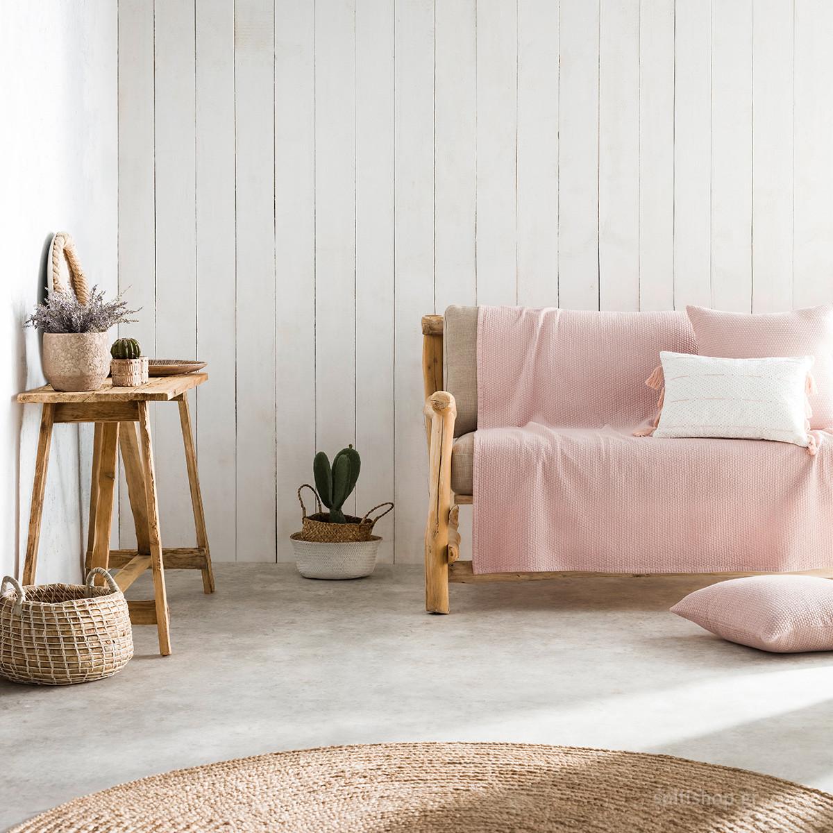 Ριχτάρι Πολυθρόνας (180×180) Gofis Home Powder Pink 283/17
