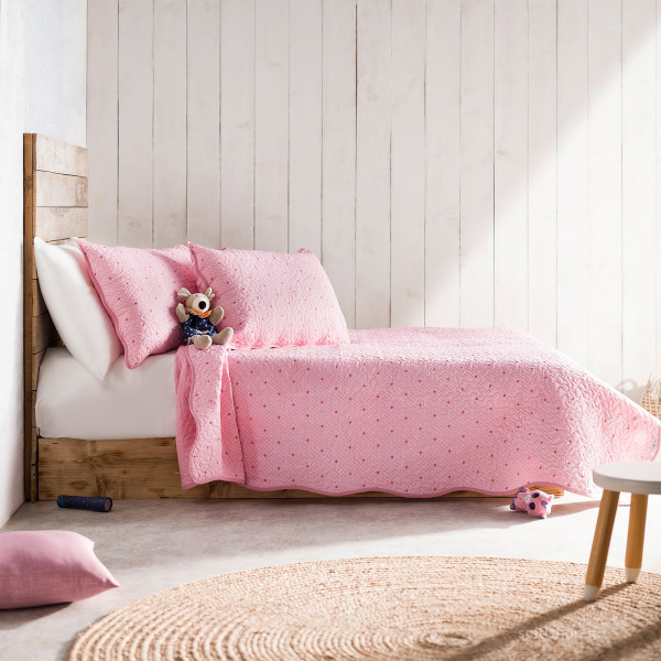 Κουβερλί Μονό (Σετ) Gofis Home Pindot Pink/Fuchsia 526/17