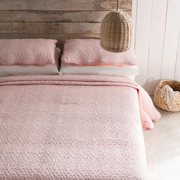Κουβερλί Μονό (Σετ) Gofis Home Pindot Peach Pink 526/25