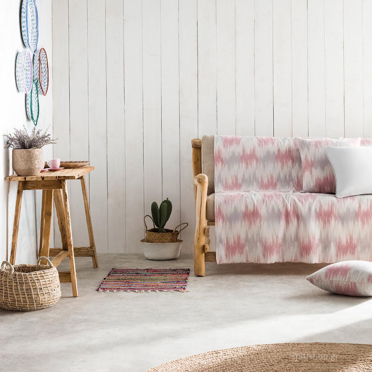 Ριχτάρι Πολυθρόνας (180×180) Gofis Home Pulse Pink 840/17