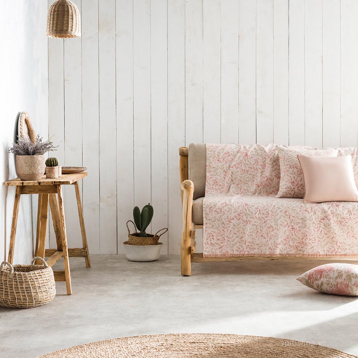 Ριχτάρι Πολυθρόνας (180×180) Gofis Home Delicate Pink 904/03
