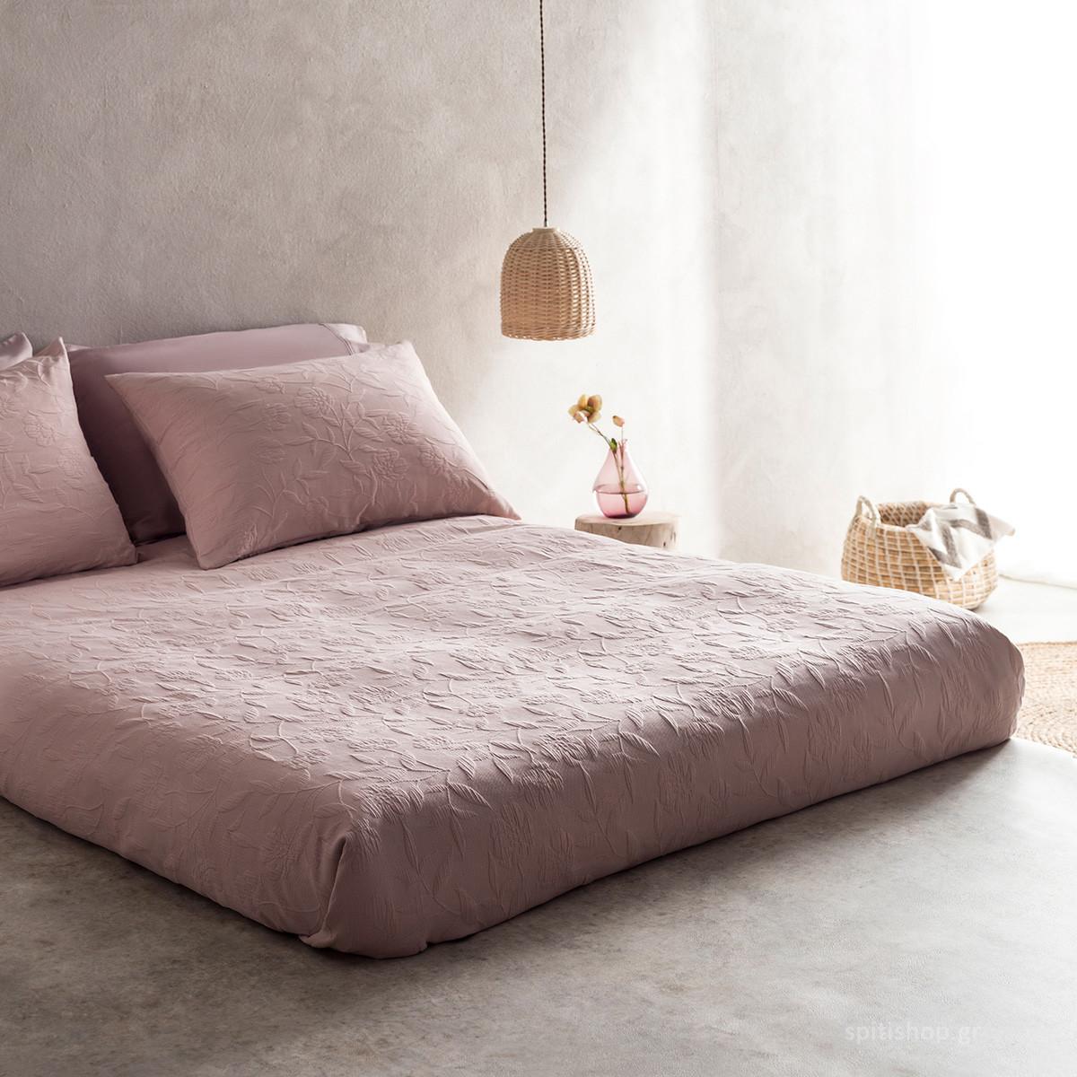Κουβερτόριο Μονό Gofis Home Laurele Pink 978/17