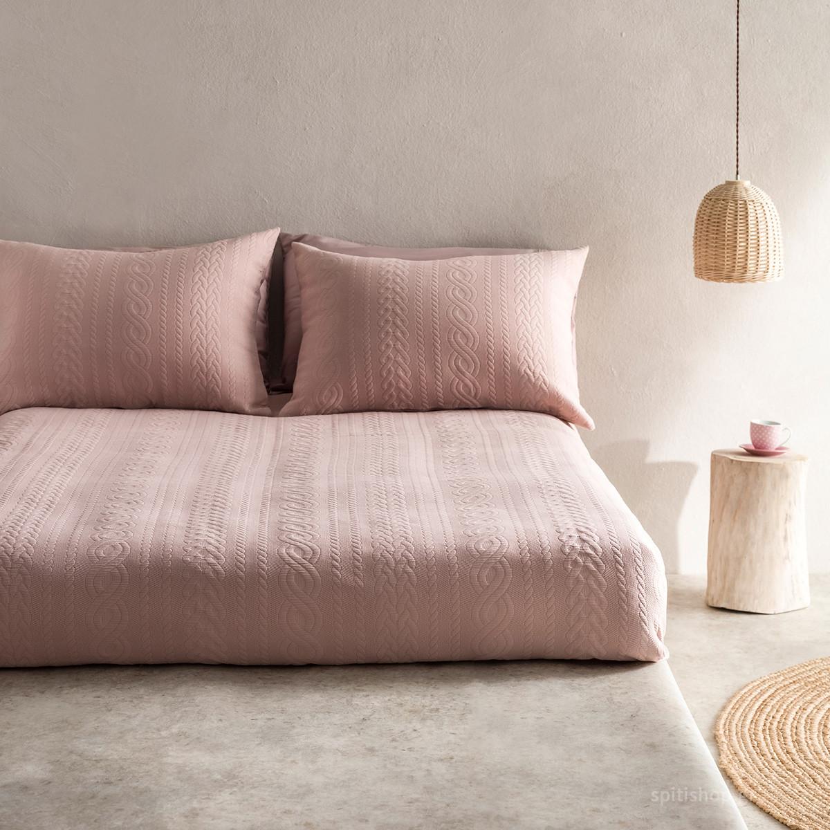 Κουβερτόριο Μονό Gofis Home Meche Pink 989/17