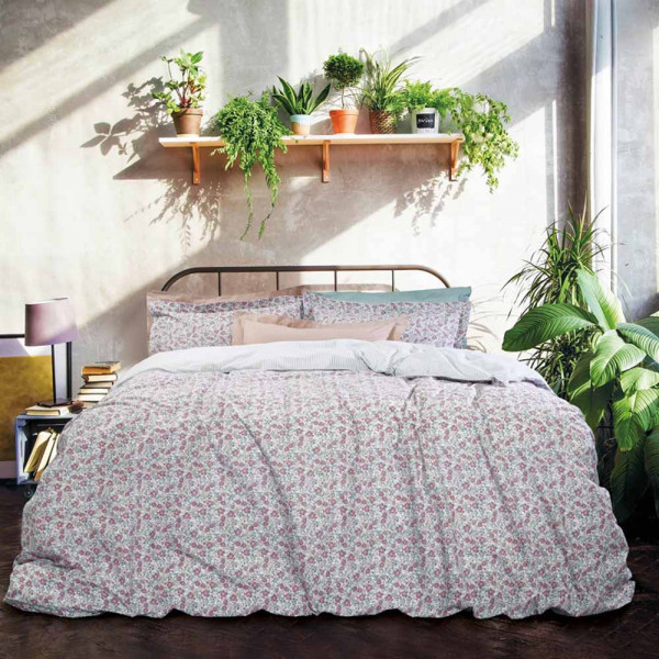 Κουβερλί Υπέρδιπλο Das Home Happy Line Prints 9448