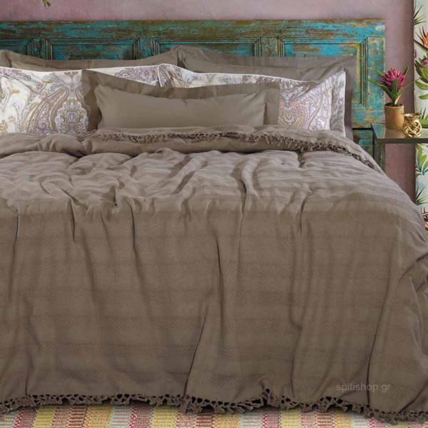 Κουβερτόριο Υπέρδιπλο Das Home Blanket Line Jacquard 424