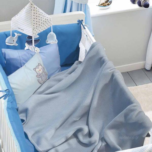Κουβέρτα Πικέ Κούνιας Das Home Blanket Line 6545 Blue