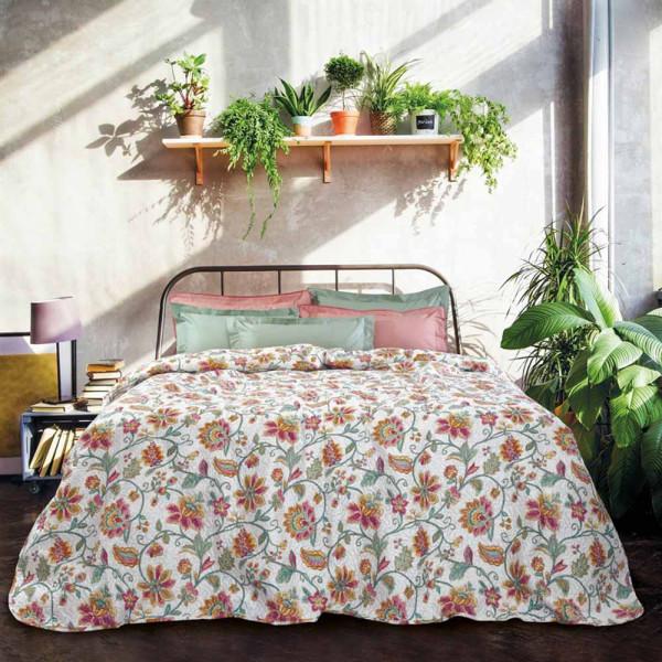 Κουβερλί Υπέρδιπλο Das Home Happy Prints 9460 Iron Free