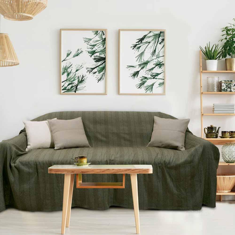 Ριχτάρι Διθέσιου (180×250) Das Home Throws Line 156 Green