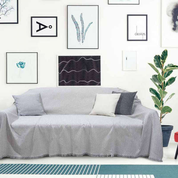 Ριχτάρι Διθέσιου (180x250) Das Home Throws Line 0166 Grey