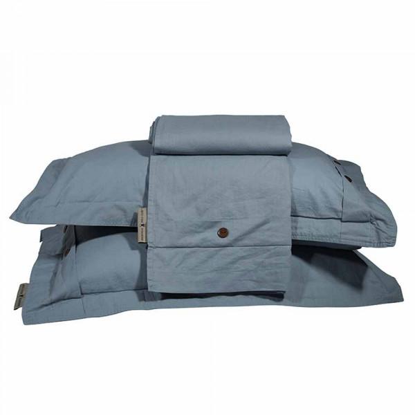 Παπλωματοθήκη Υπέρδιπλη (Σετ) Polo Club Essential Stonewashed 2054