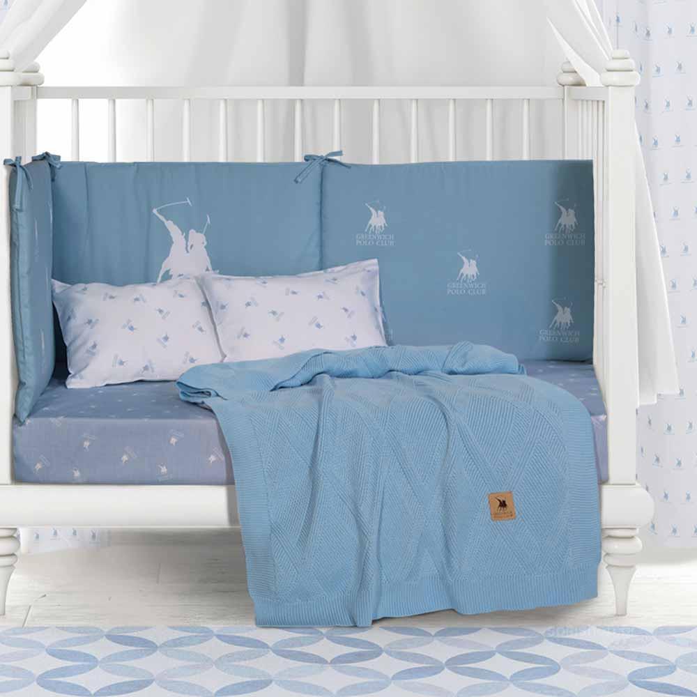 Κουβέρτα Πλεκτή Αγκαλιάς Polo Club Essential Baby 2955
