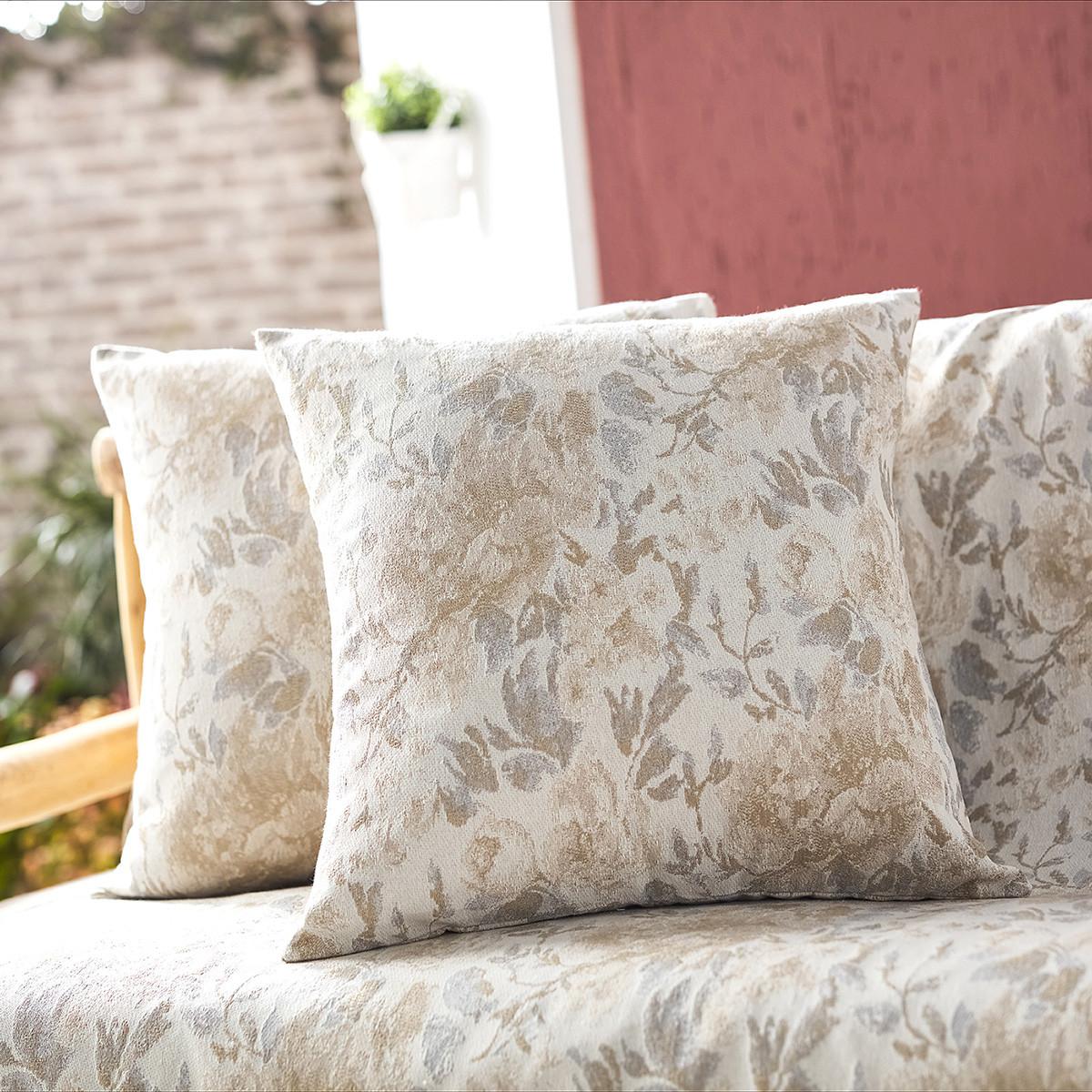 Διακοσμητική Μαξιλαροθήκη (50×50) Gofis Home Bloomy Grey 628/15