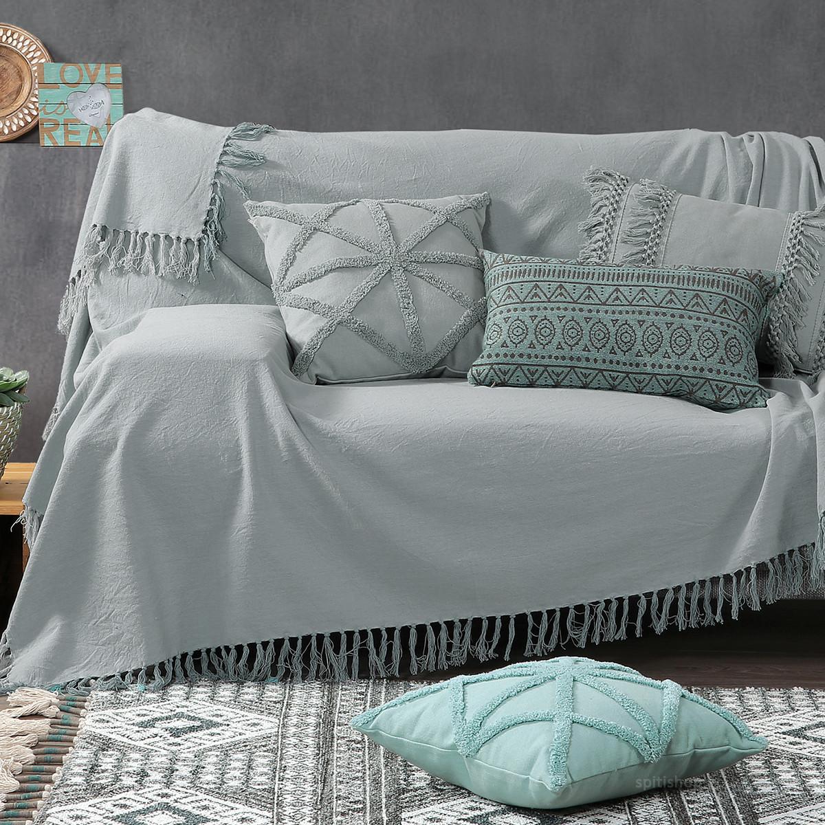 Ριχτάρι Τριθέσιου (180×300) Nef-Nef Rikkas Grey