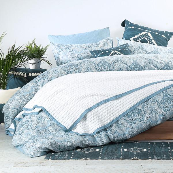 Κουβέρτα Πικέ Υπέρδιπλη Nef-Nef Blue Collection Margo Natural