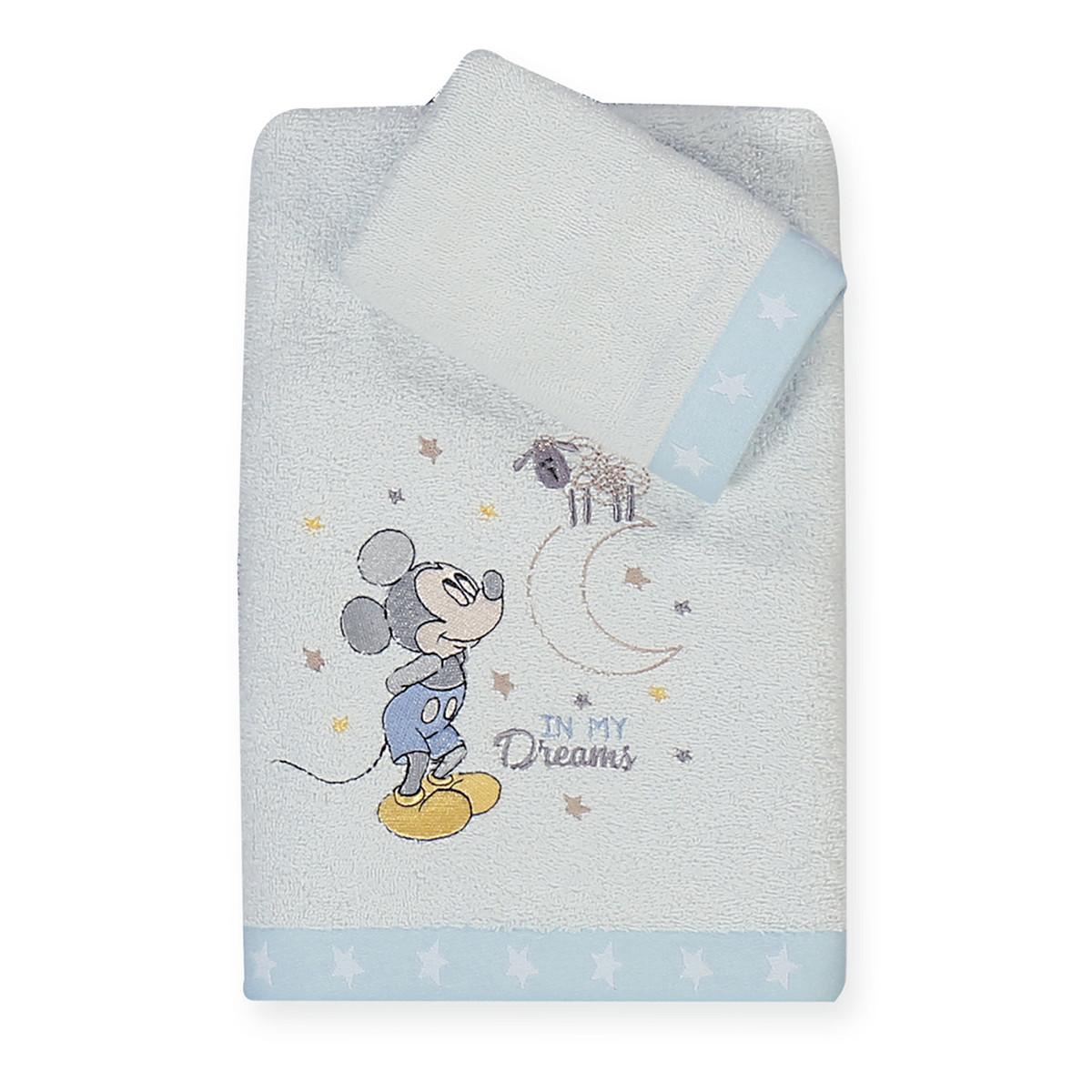 Βρεφικές Πετσέτες (Σετ 2τμχ) Nef-Nef Disney Mickey's Dreams