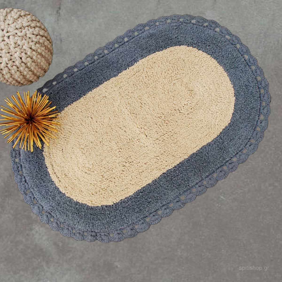 Πατάκι Μπάνιου (60×90) Palamaiki Zaraf Grey