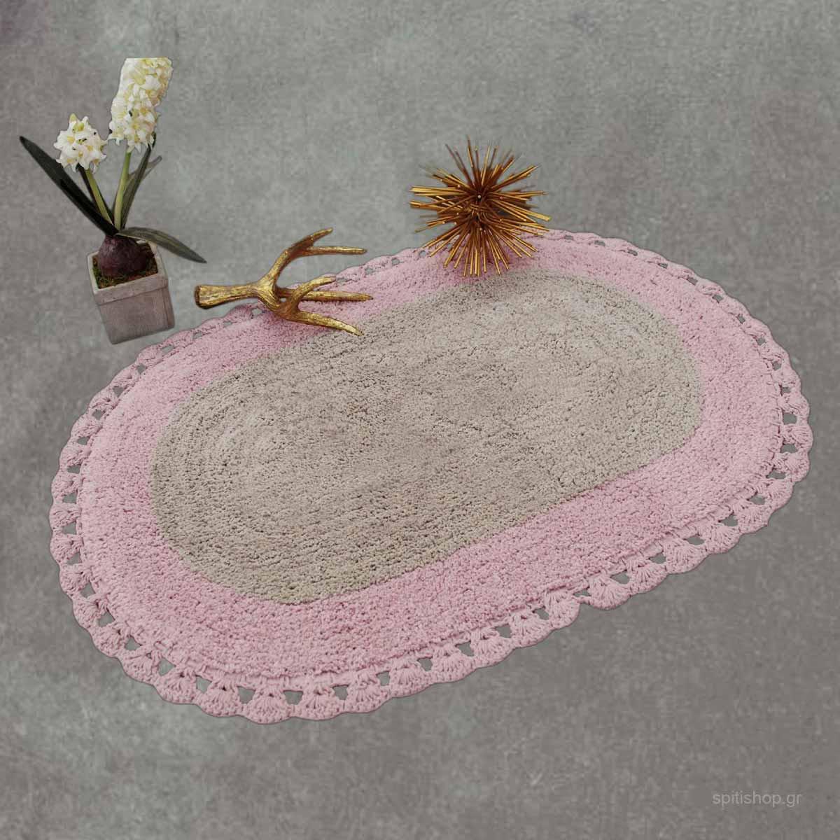 Πατάκι Μπάνιου (60×90) Palamaiki Zaraf Pink