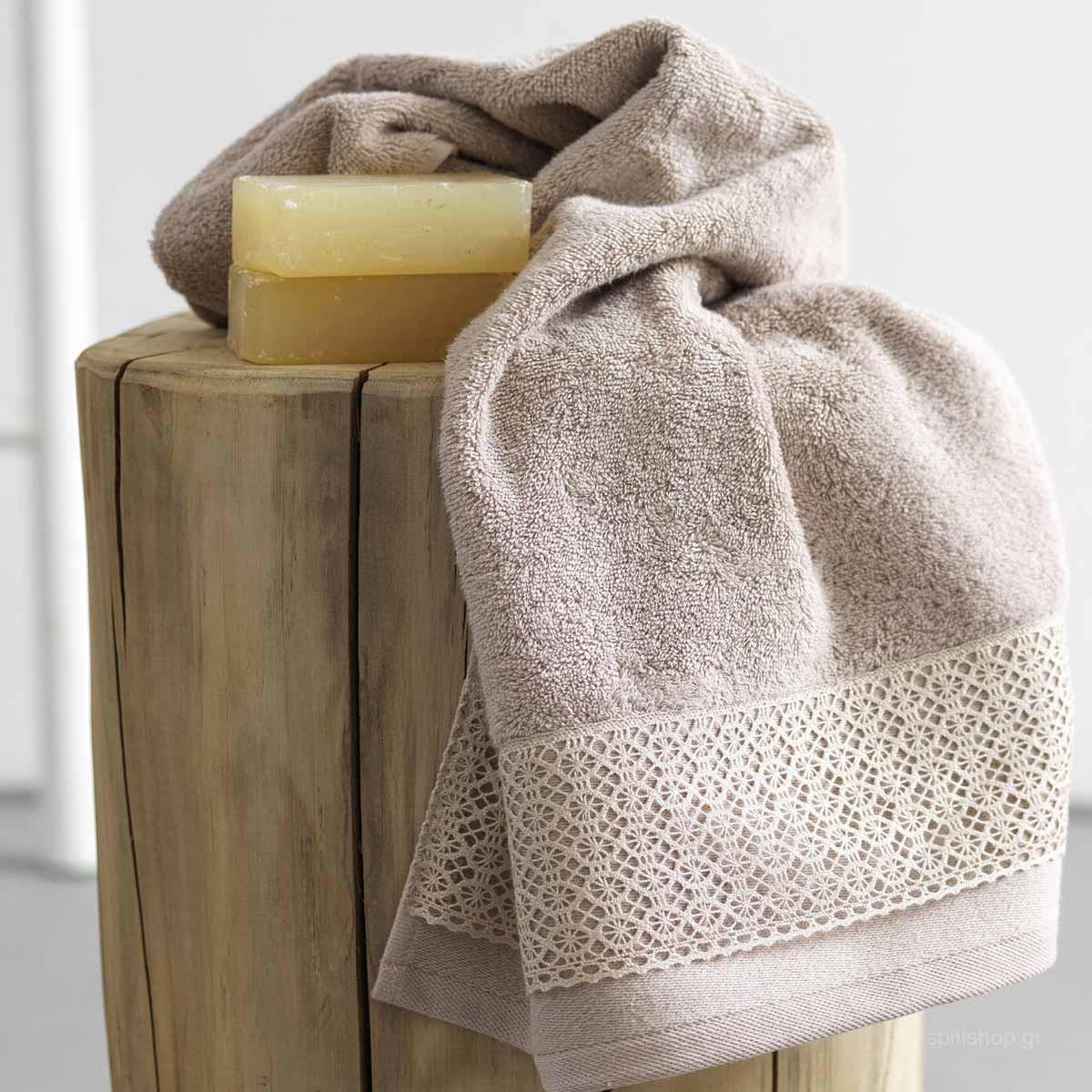 Πετσέτες Μπάνιου (Σετ 3τμχ) Palamaiki Towels Lina