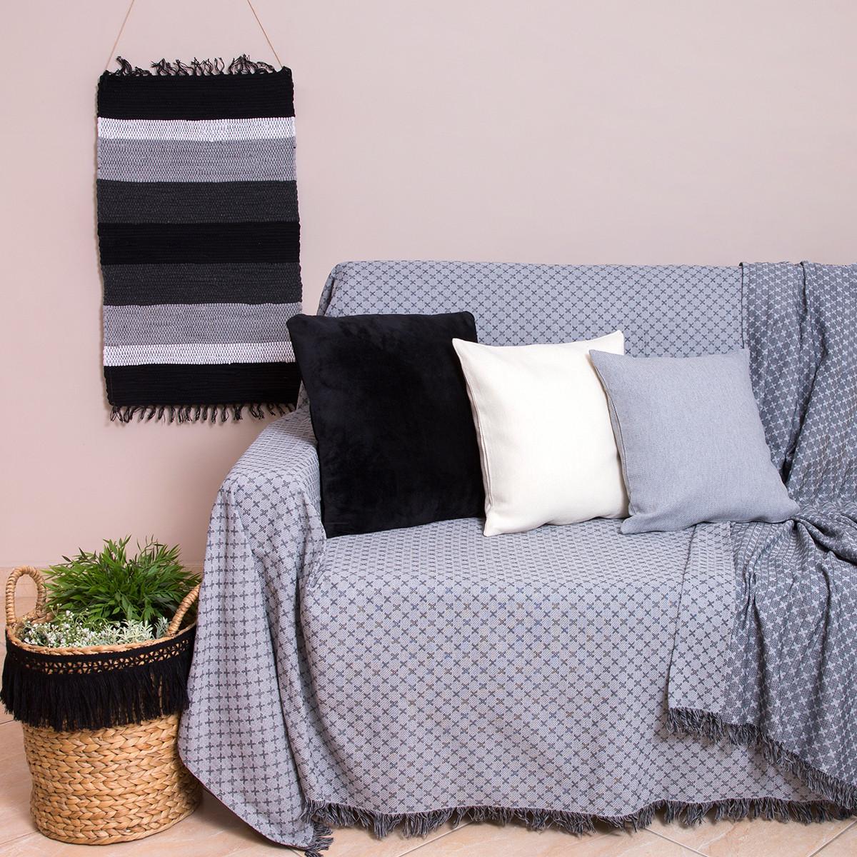 Ριχτάρι Πολυθρόνας (180×180) Loom To Room Ristine Grey