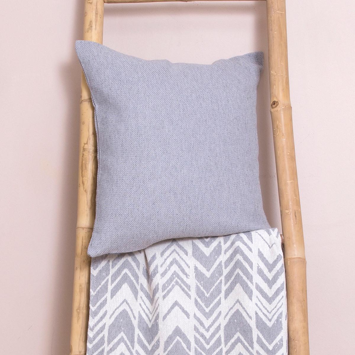 Διακοσμητική Μαξιλαροθήκη (40×40) Loom To Room Mix Grey