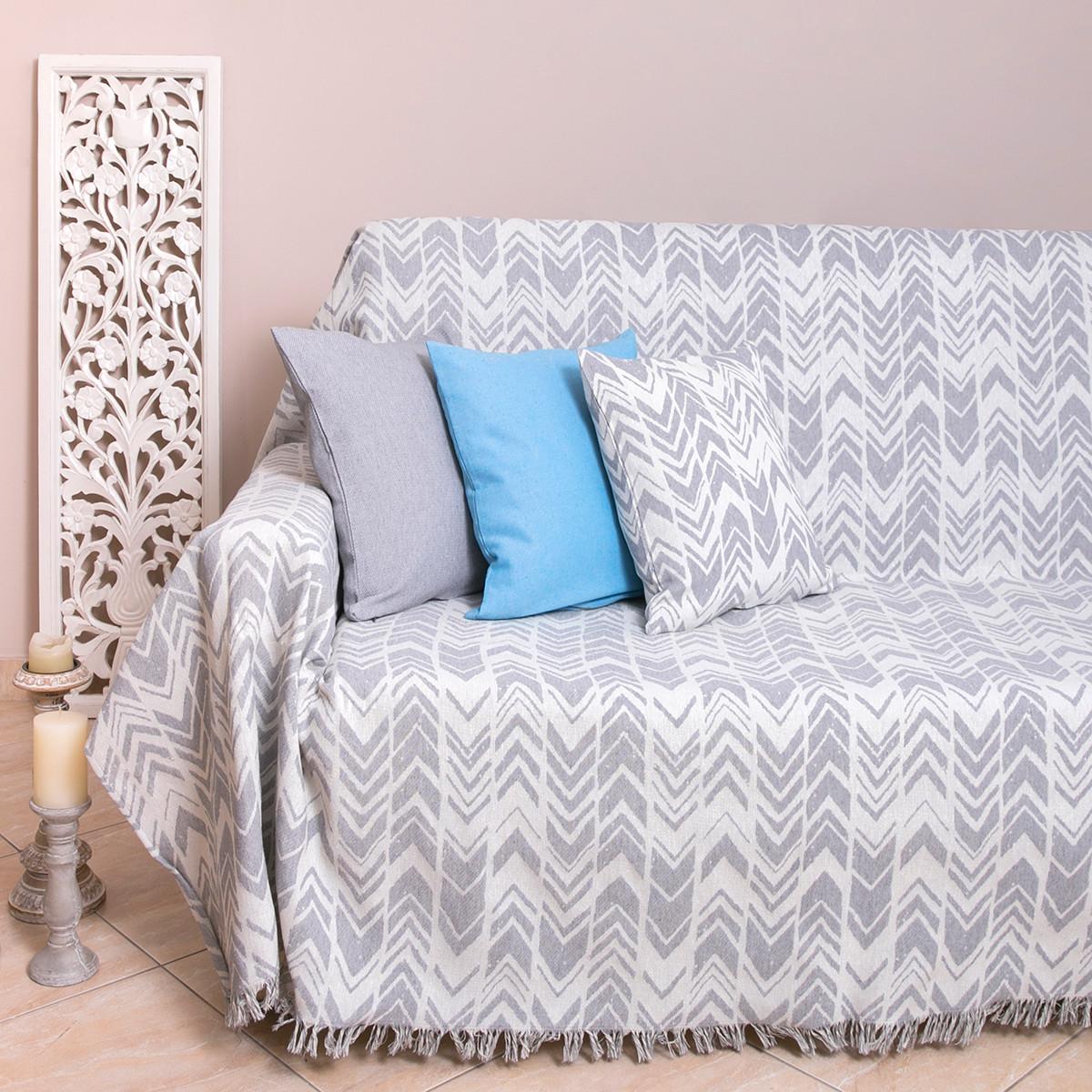 Ριχτάρι Πολυθρόνας (180×180) Loom To Room Diverso L.Grey