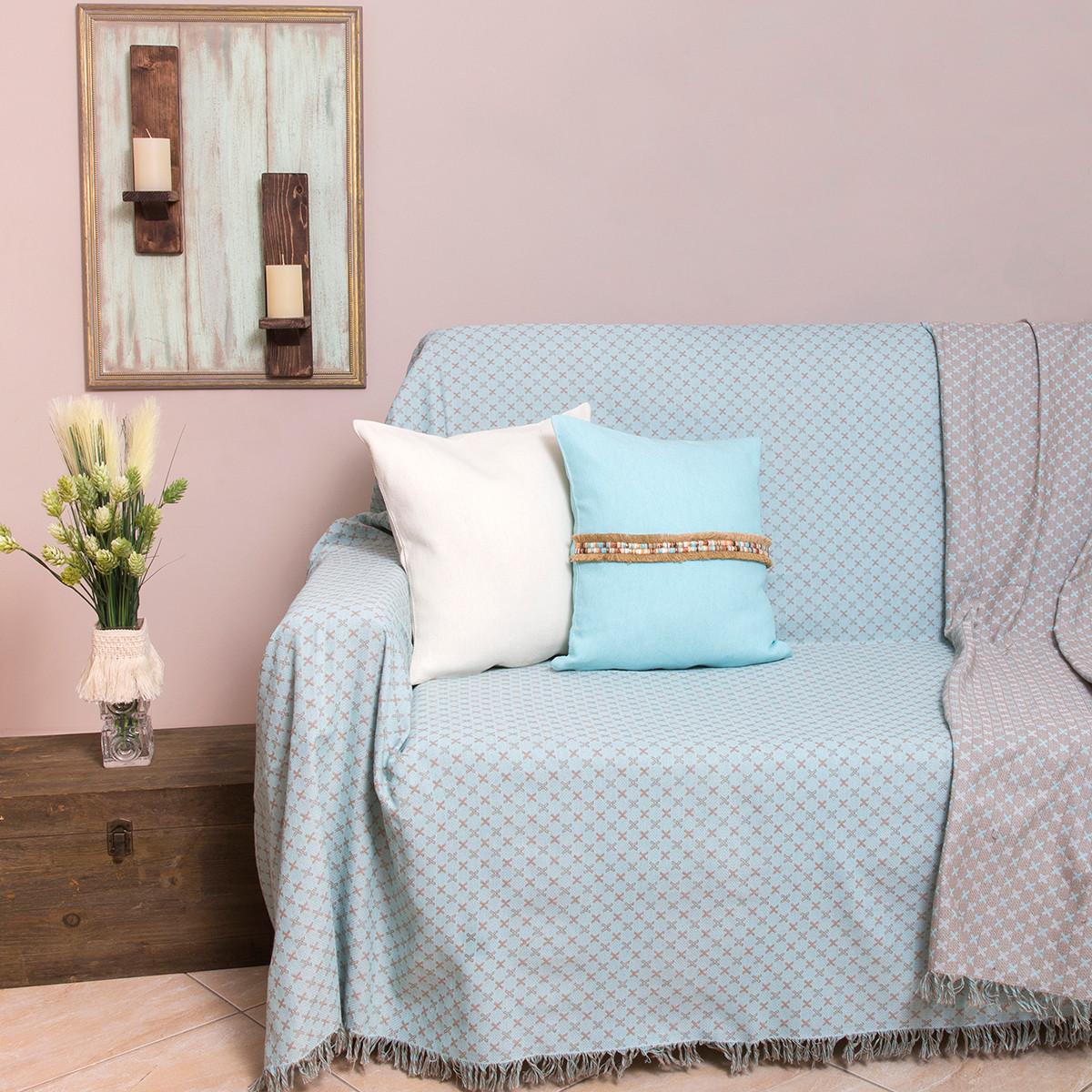 Ριχτάρι Πολυθρόνας (180×180) Loom To Room Ristine Mint