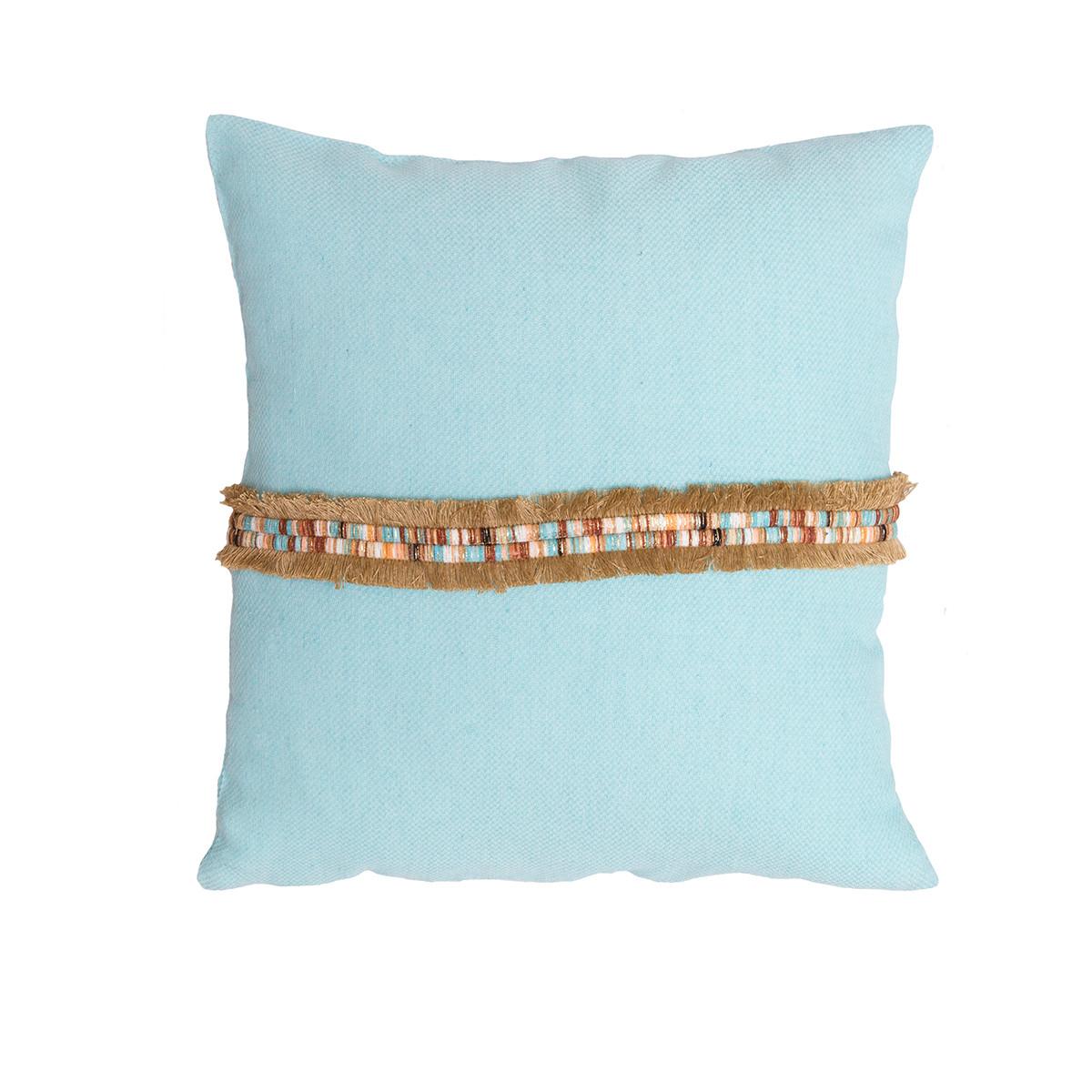 Διακοσμητική Μαξιλαροθήκη (40×40) Loom To Room Boho Mint